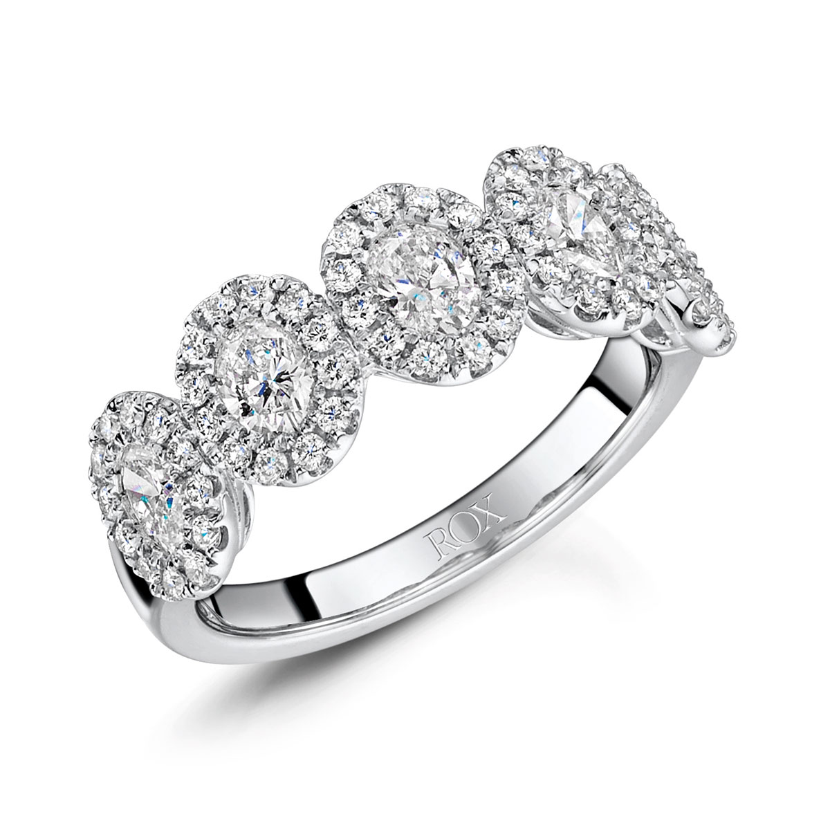 Diamond Oval Cut Dress Ring 1.45cts