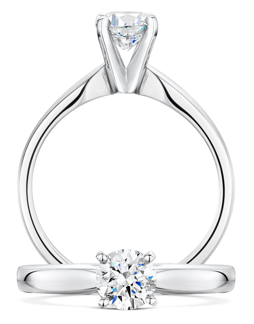 Classic Brilliant Cut Diamond Ring
