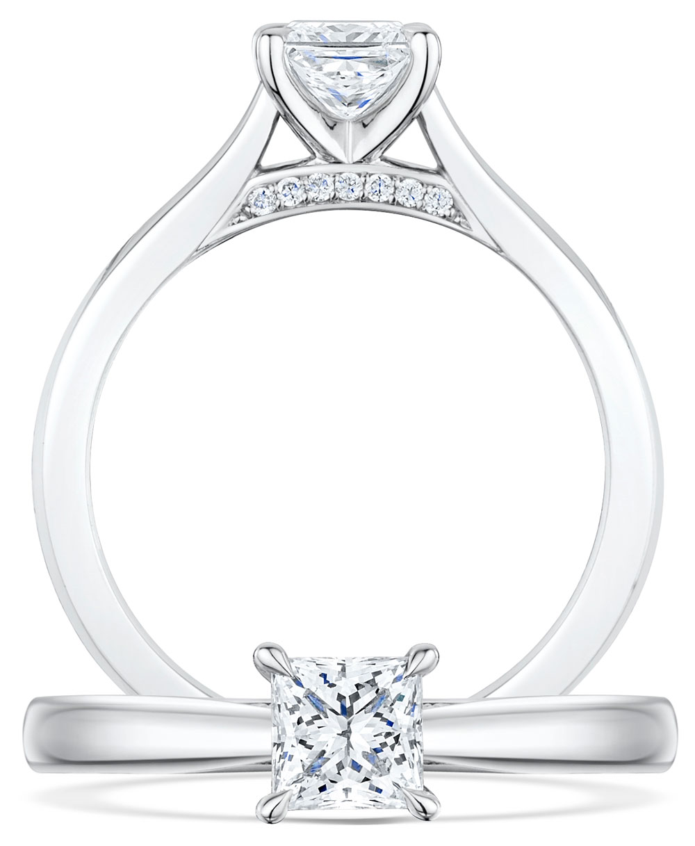 Adore Princess Cut Diamond Ring