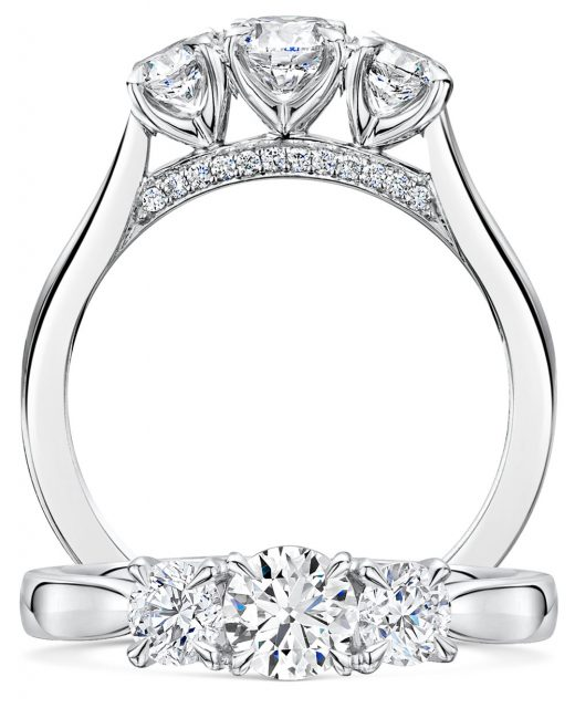 Adore Brilliant Cut Diamond Trilogy Ring