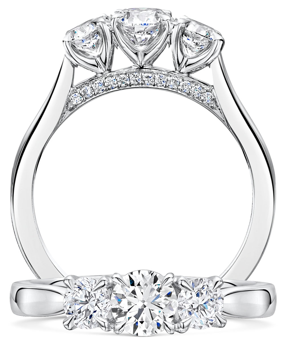 Adore Brilliant Cut Diamond Trilogy Ring