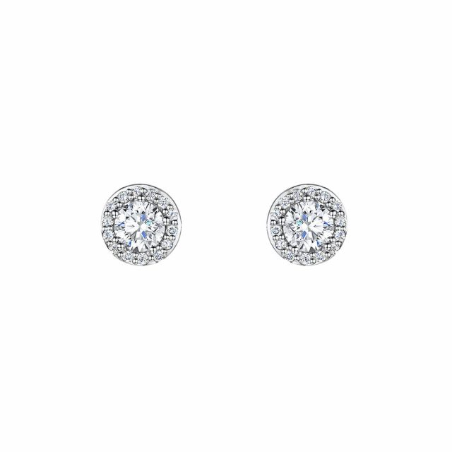 ROX Diamond Halo Earrings 0.90cts