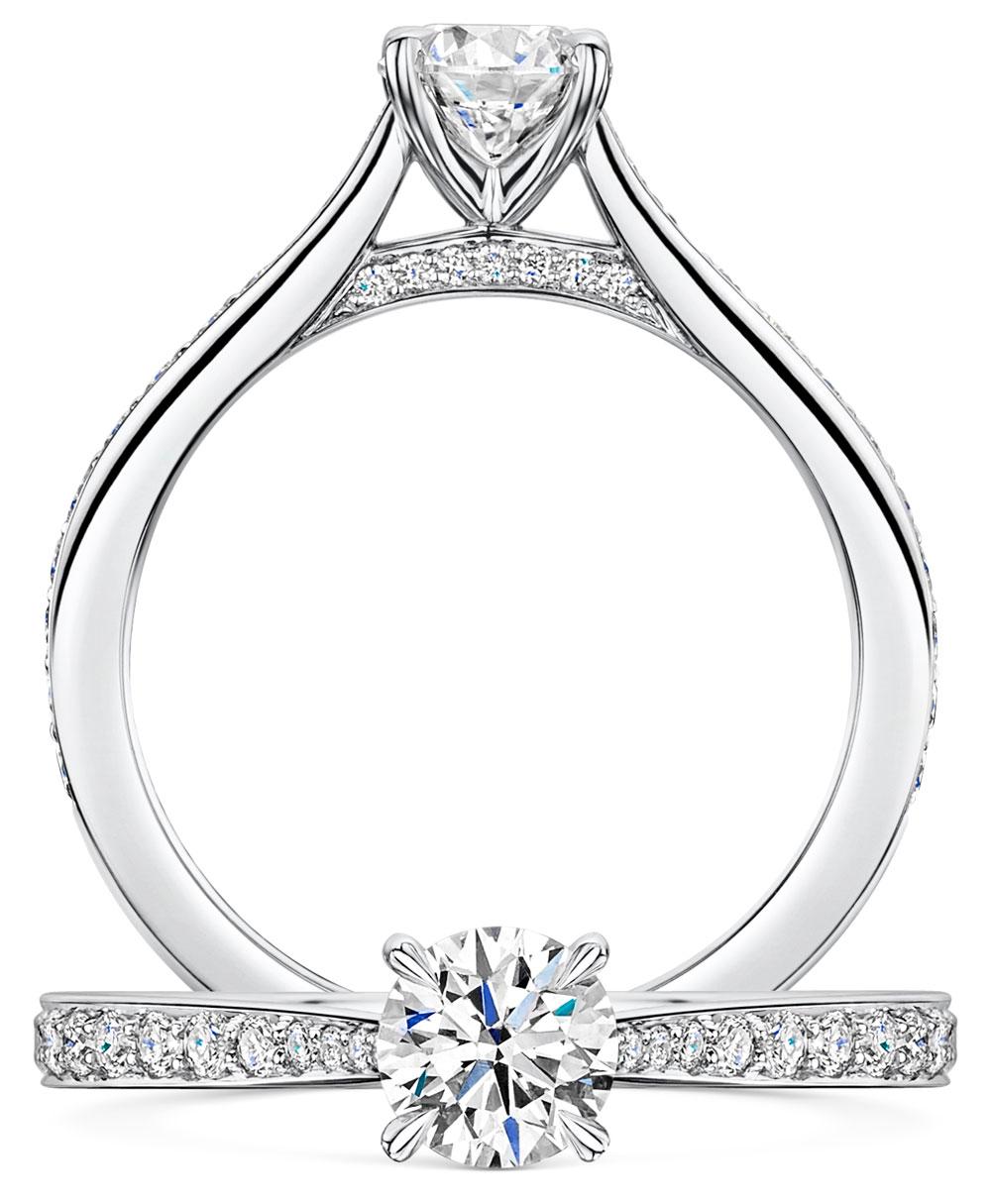 Adore Brilliant Cut Pave Diamond Ring