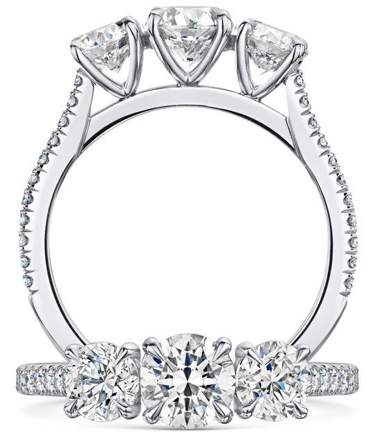Love Brilliant Cut Diamond Trilogy Ring