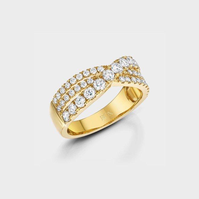 ROX Diamond Dress Twist Ring 1.06cts