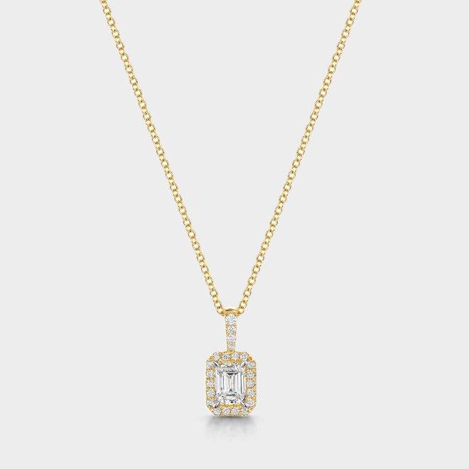 ROX Diamond Halo Necklace 0.37cts
