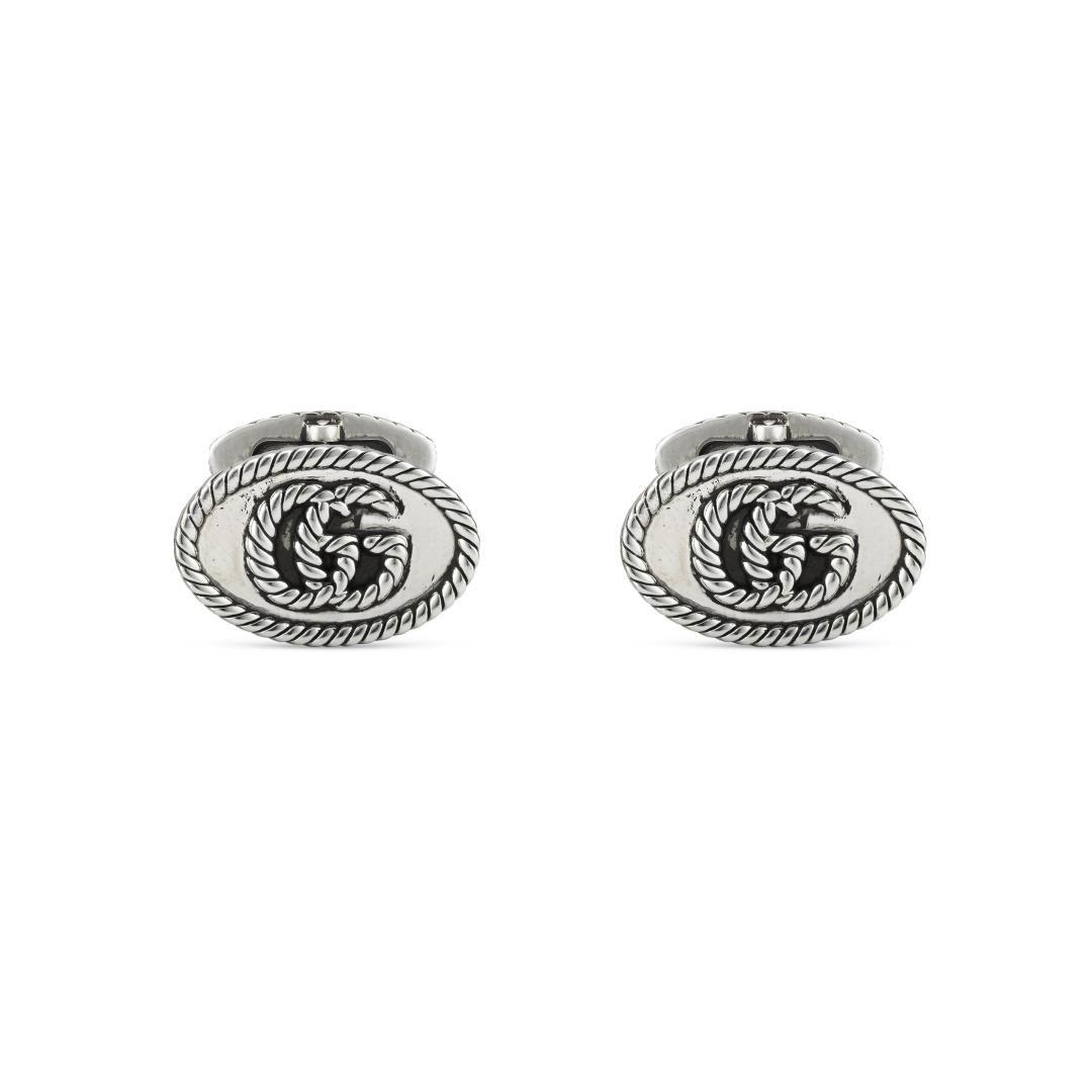 Gucci Silver GG Marmont Cufflinks