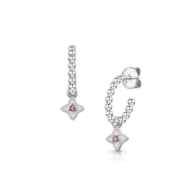 ROX Talisman Pink Rhodolite Garnet Hoop Earrings