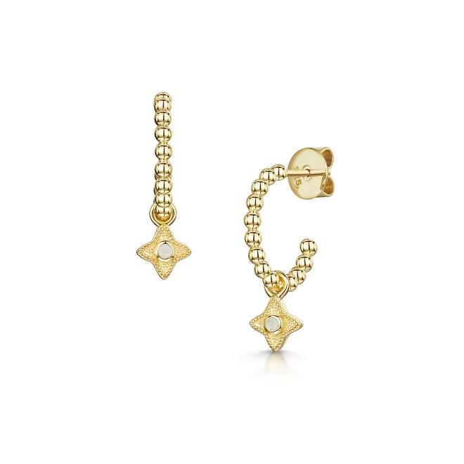 ROX Talisman Moonstone Hoop Earrings
