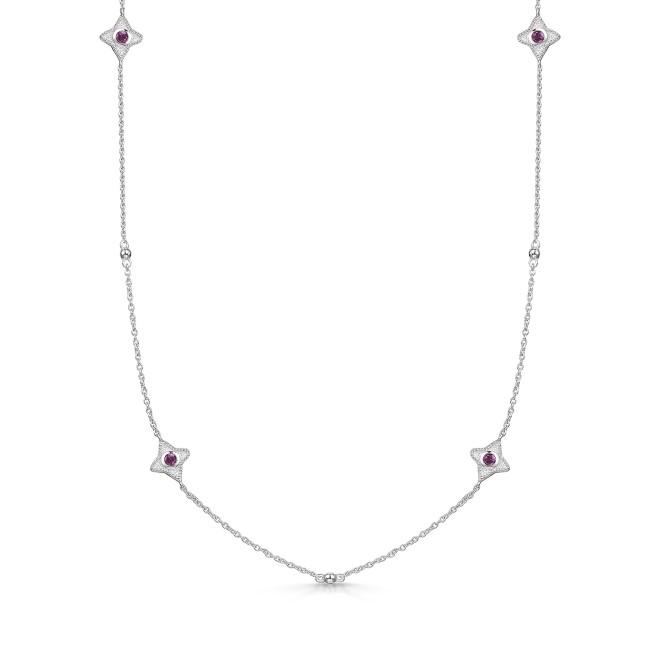 ROX Talisman Pink Rhodolite Garnet Necklace