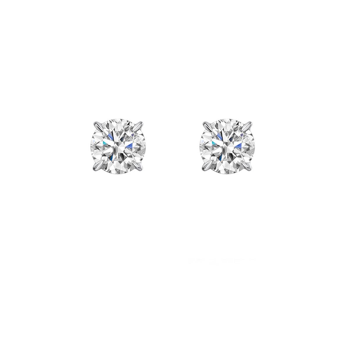 ROX Honour Diamond Earrings in Platinum