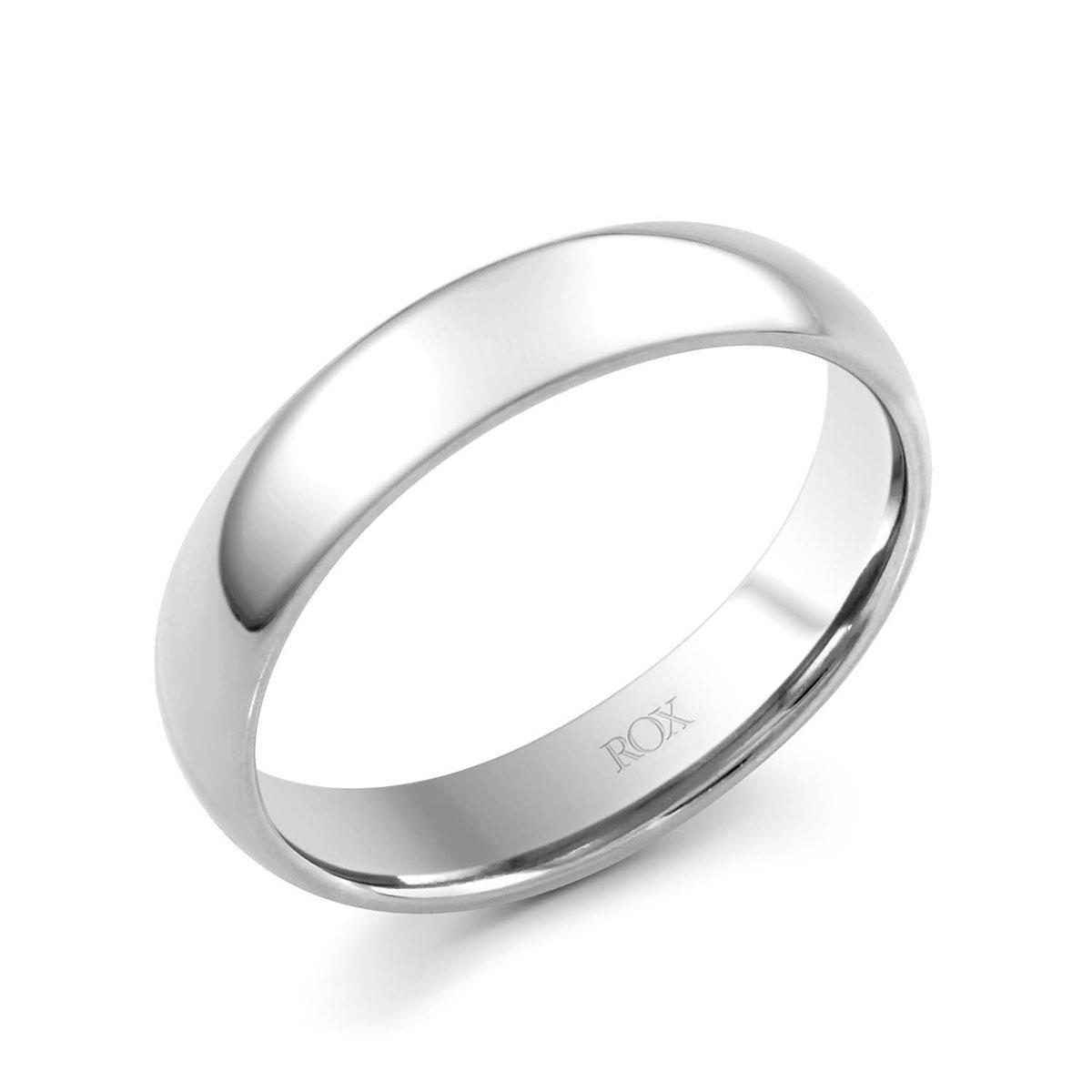 ROX Adore Platinum Court Wedding Ring 5mm