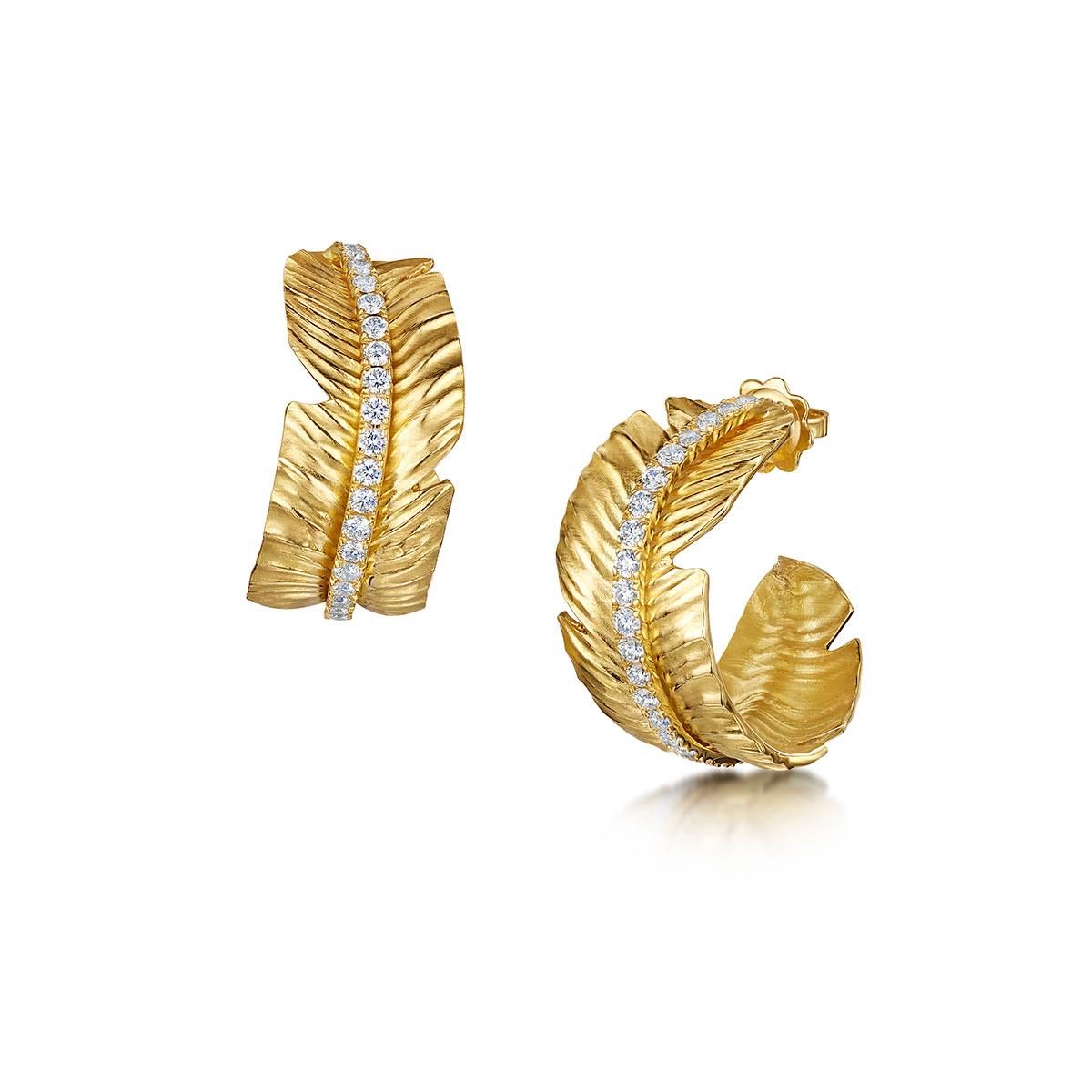 ROX Tiki Diamond Hoop Earrings 1.54cts