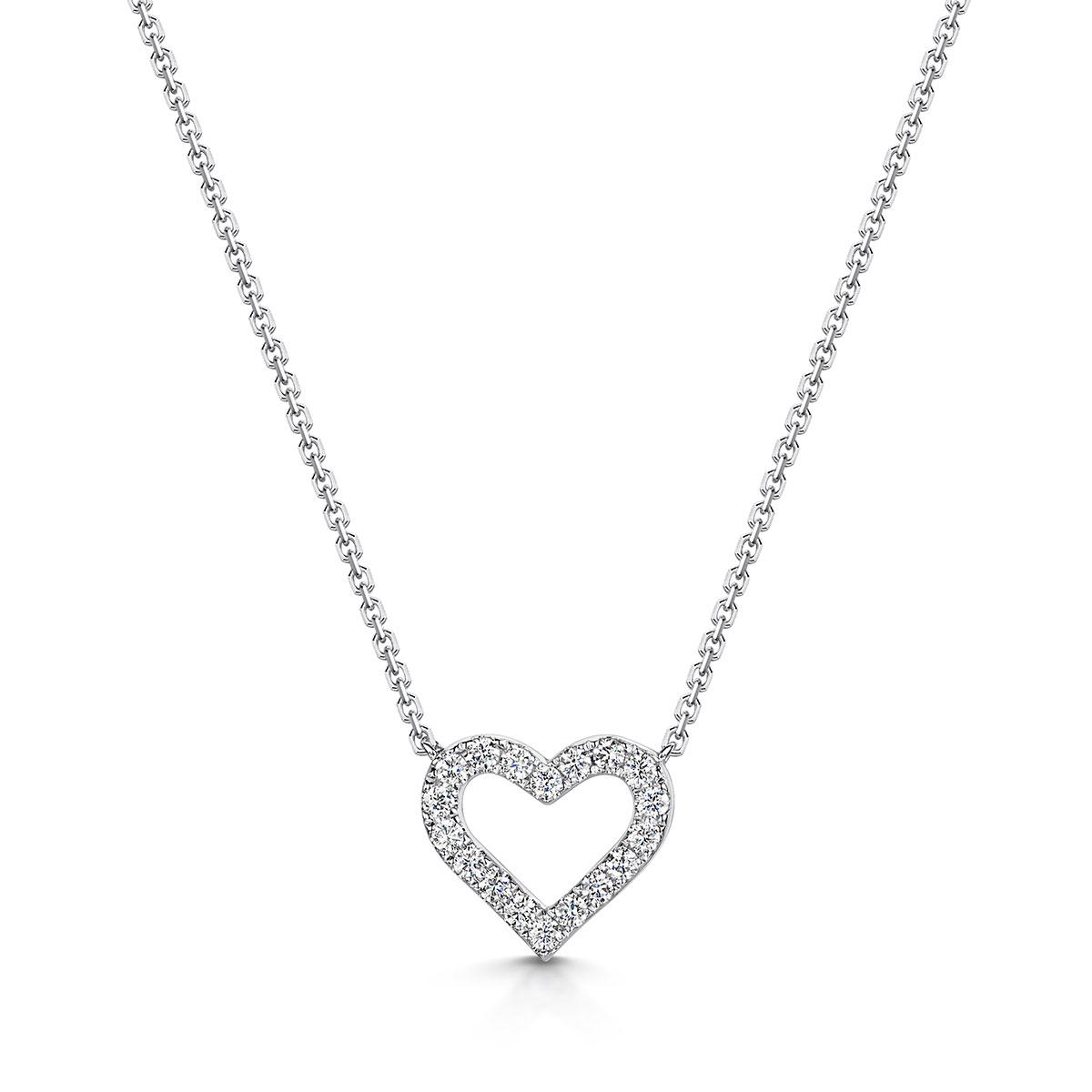 ROX Heart Diamond Necklace 0.21cts