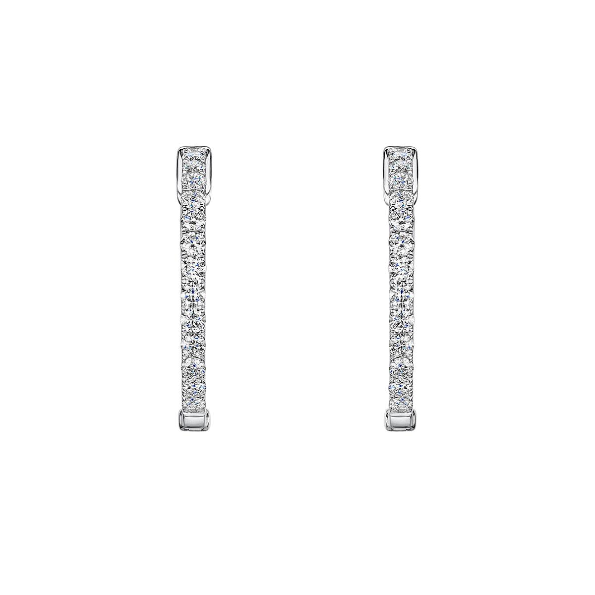 ROX Diamond Hoop Earrings 1.51cts