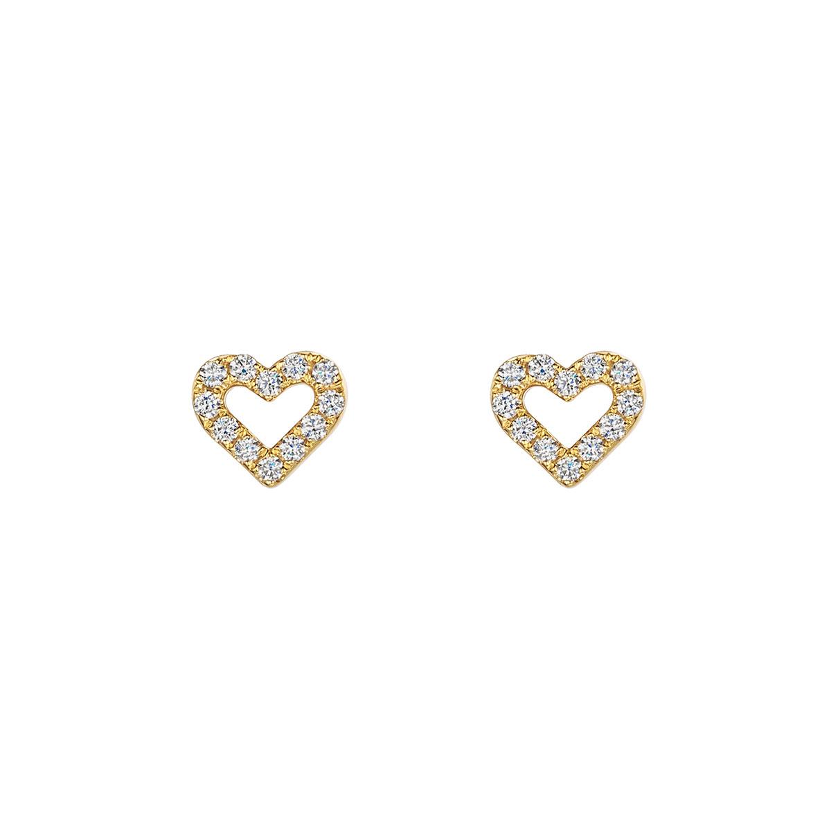 ROX Diamond Heart Earrings 0.24cts