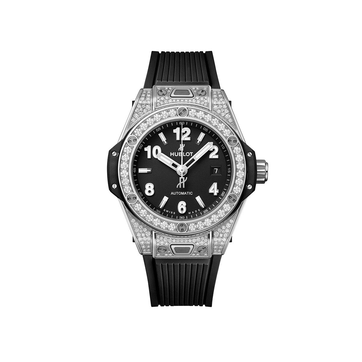 Hublot Big Bang One Click Steel Pave 33mm Watch