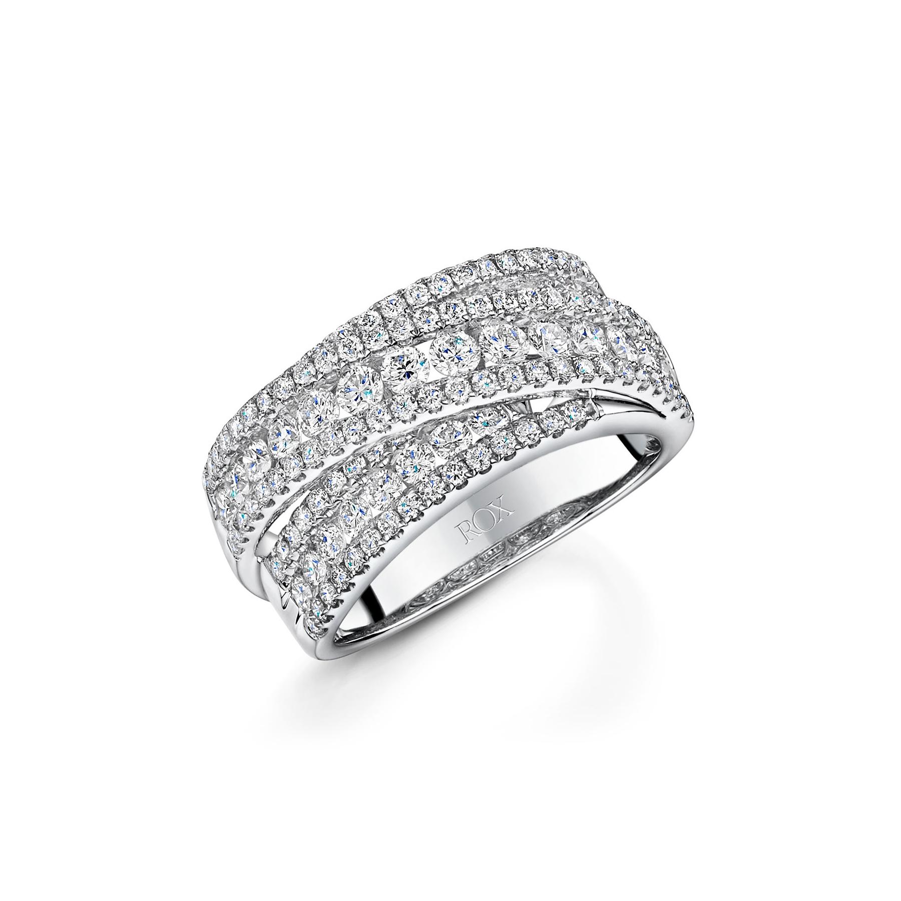 ROX Diamond Dress Twist Ring 1.73cts