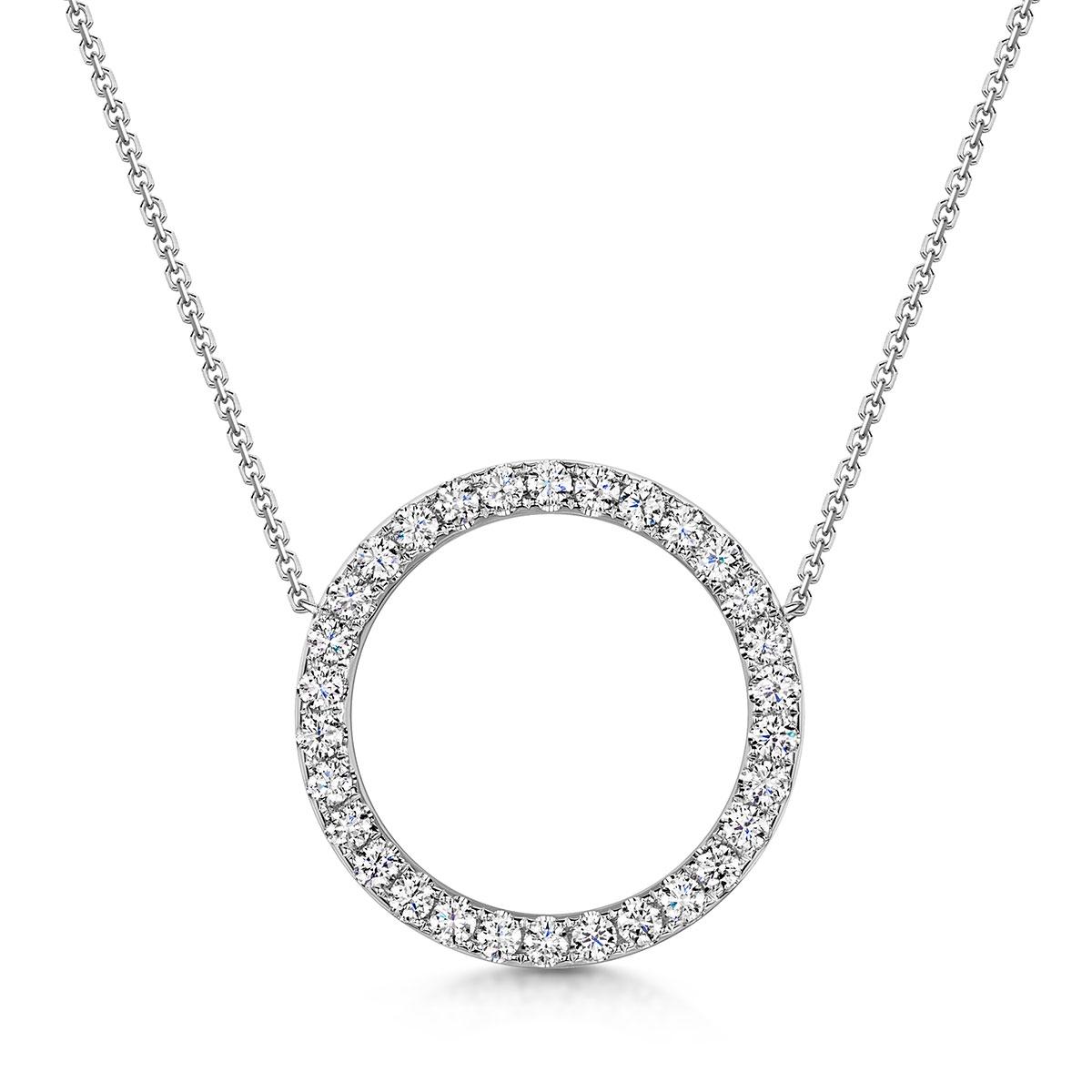 ROX Circle Diamond Necklace 1.18cts