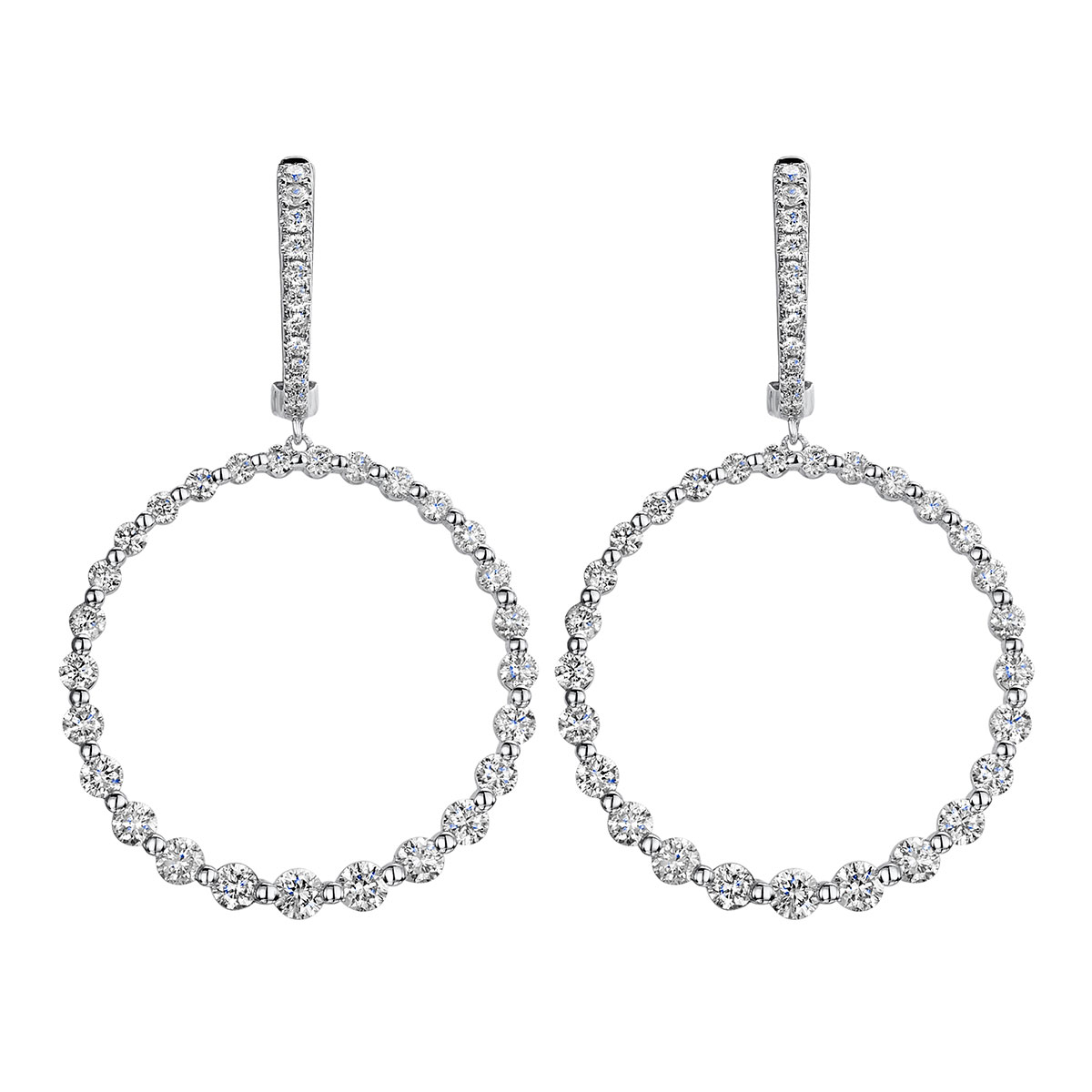 ROX Diamond Circle Earrings 1.61cts