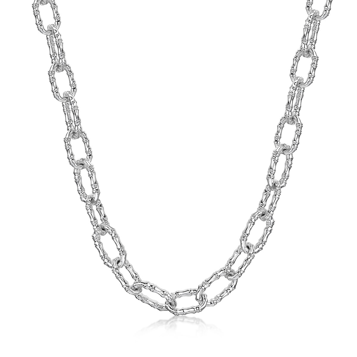 ROX Cane Silver Oval Link Chain