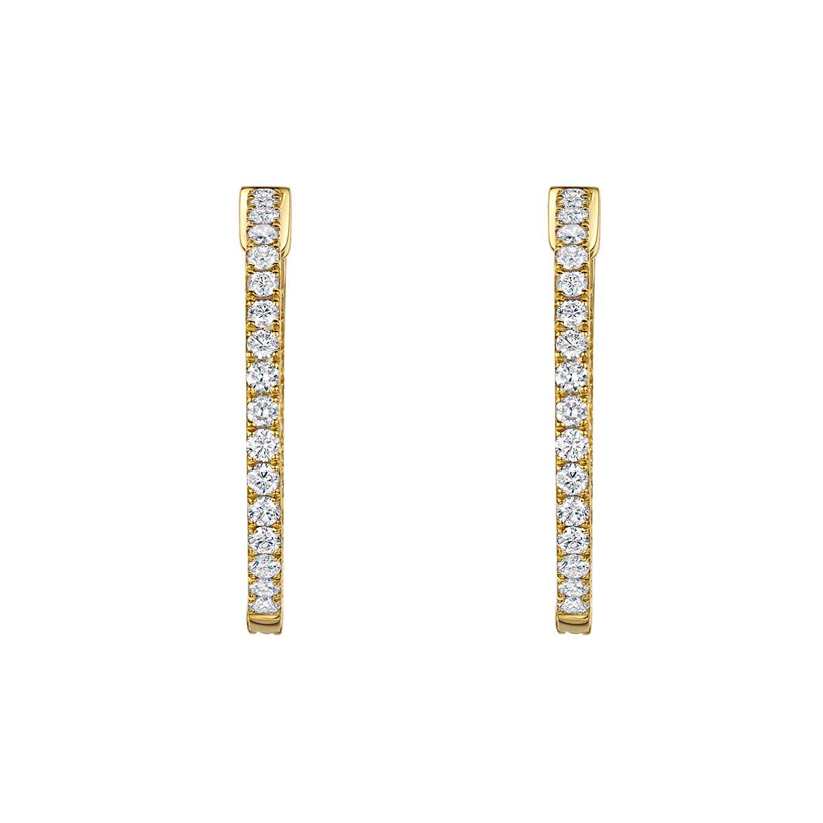 ROX Diamond Hoop Earrings 1.90cts