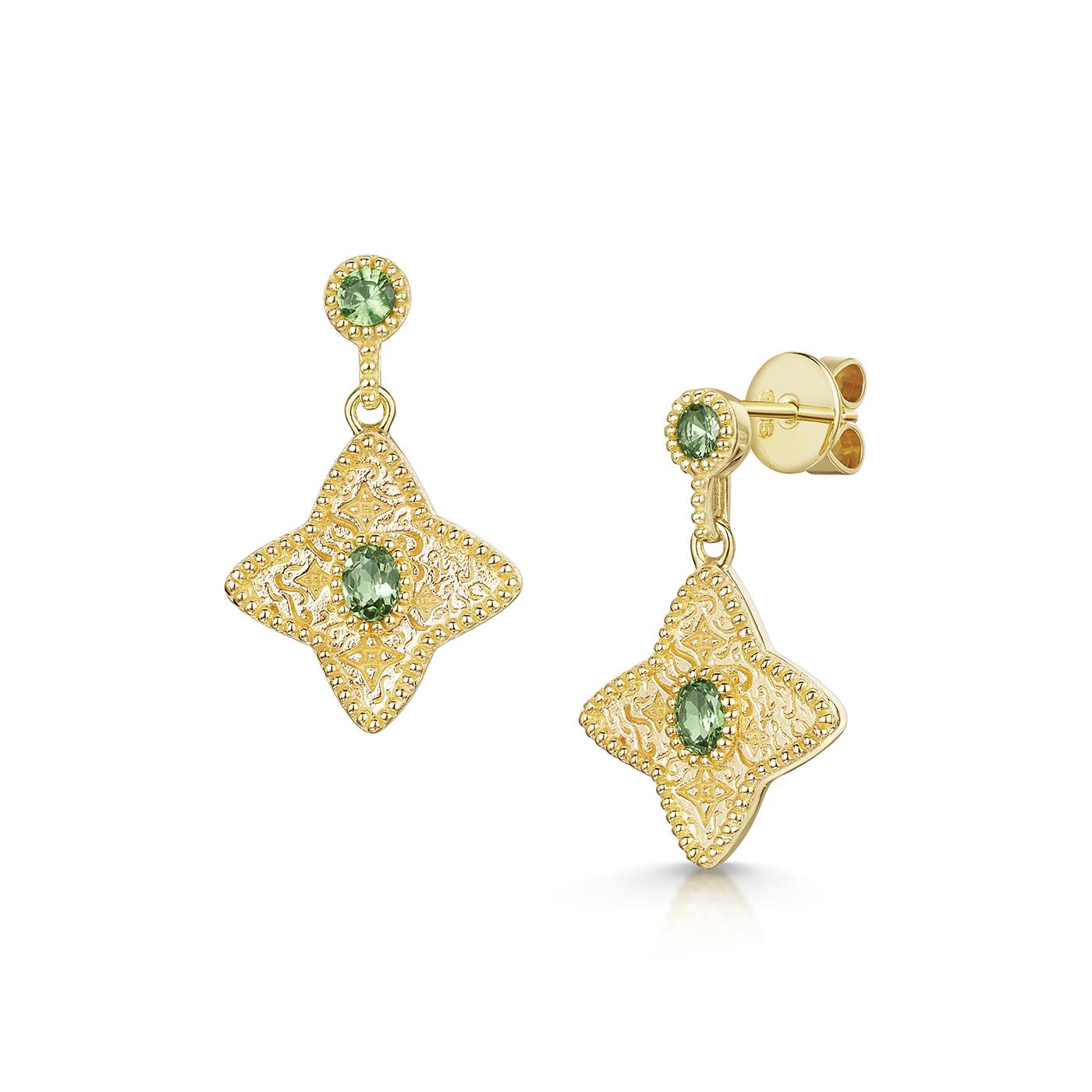 ROX Talisman Tsvorite Drop Earrings