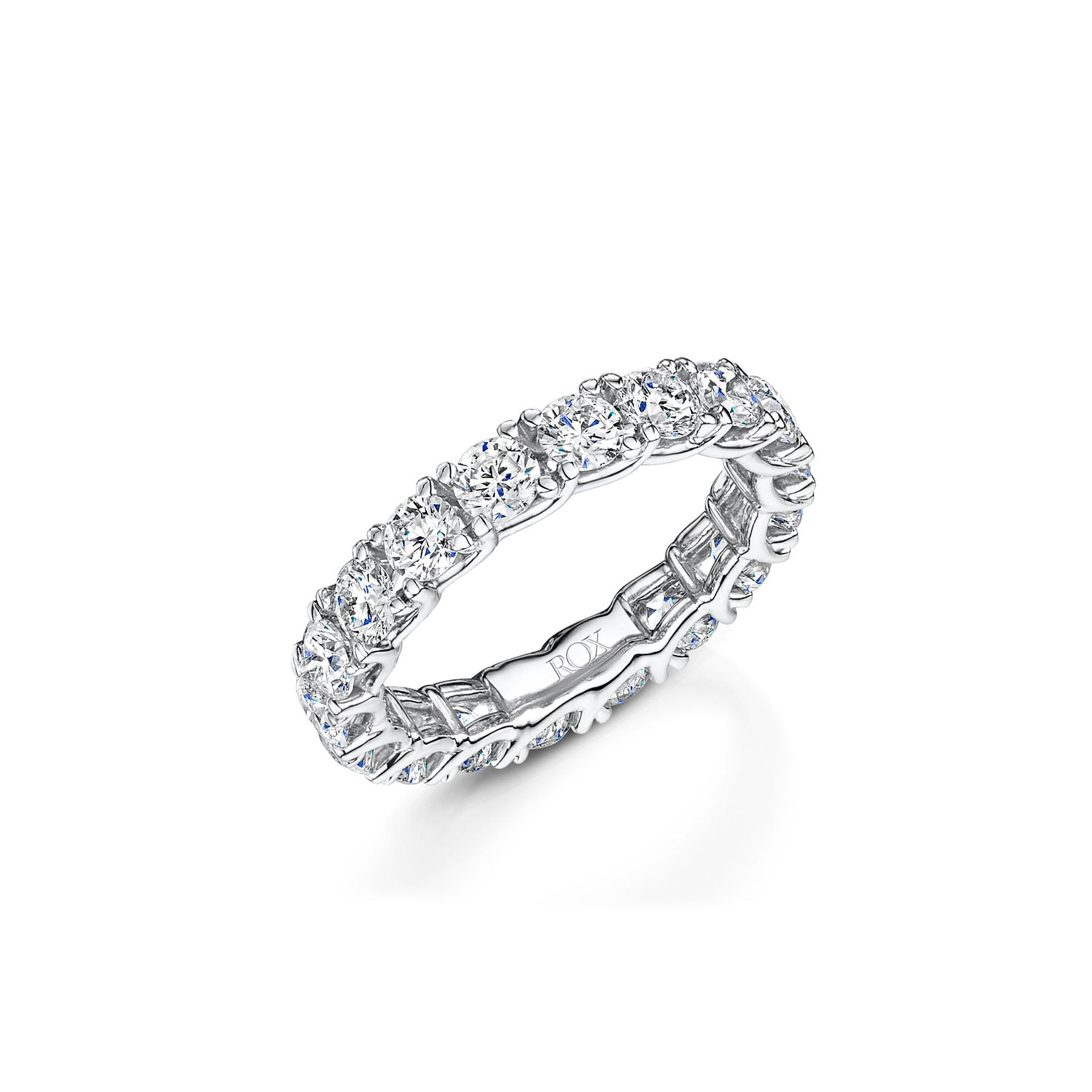 ROX Micro Claw Diamond Full Eternity Ring 3.00cts
