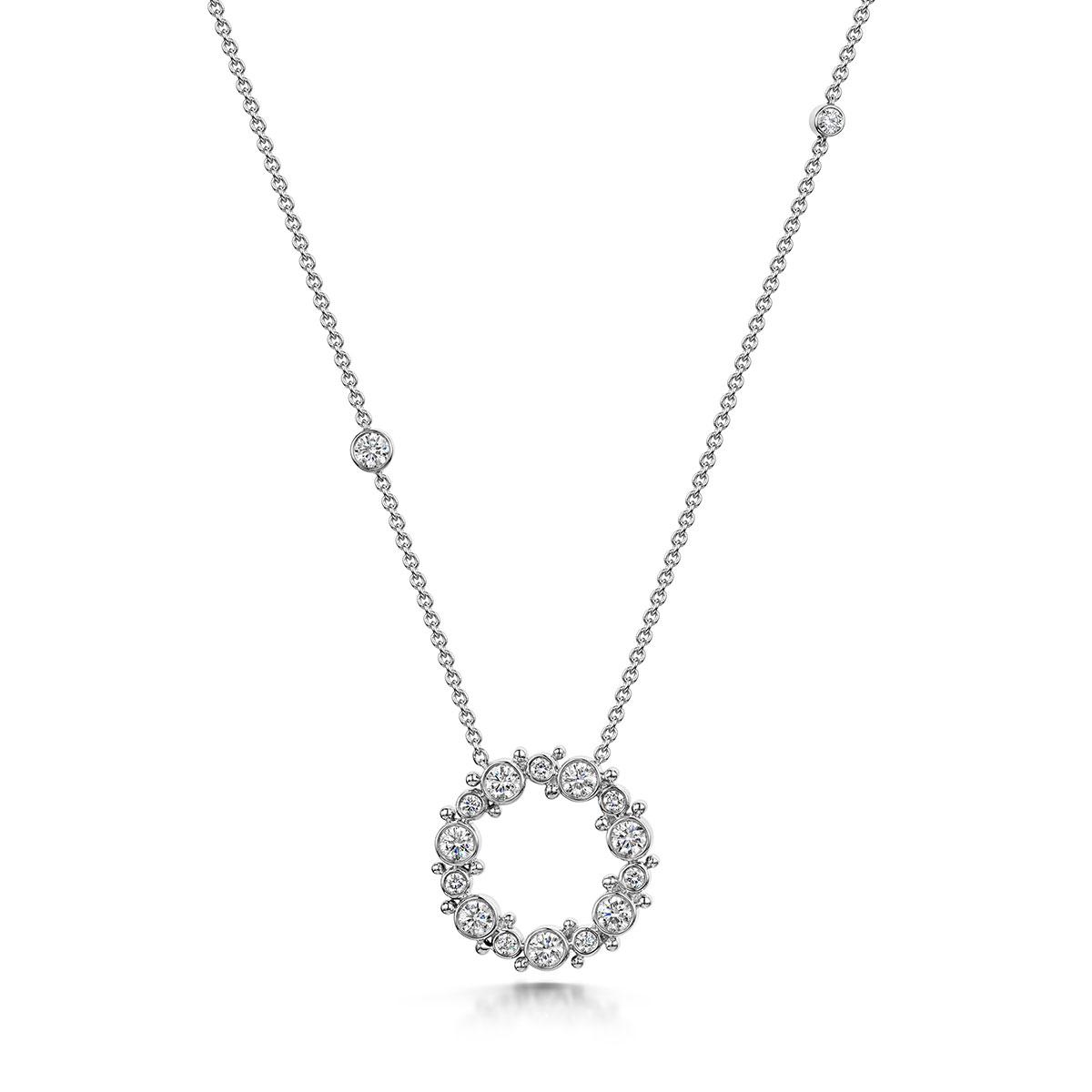 ROX Cascade Diamond Circle Necklace 0.87cts