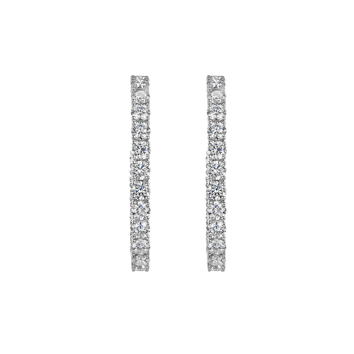 ROX Diamond Hoop Earrings 4.63cts
