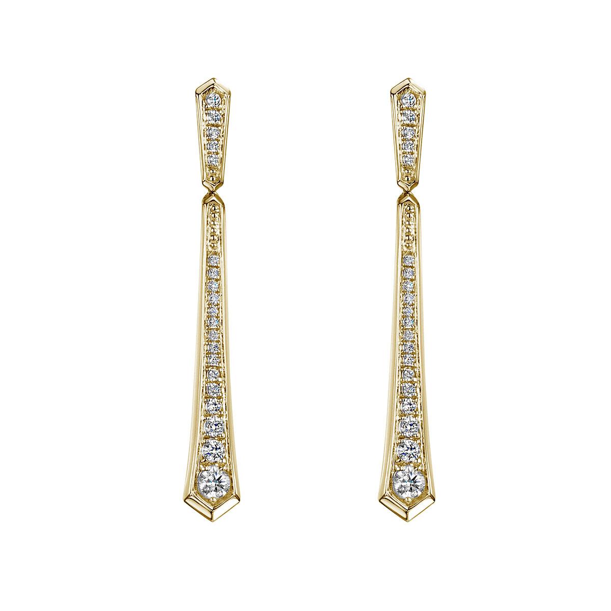 ROX Cosmic Diamond Drop Earrings 0.39cts